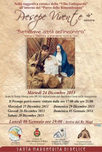 "Locandina ""Presepe Vivente 2013"""