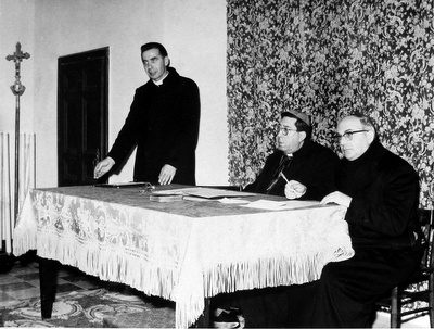 Don Antonio Riboldi, mons. Mancuso, don Pietro Foraci