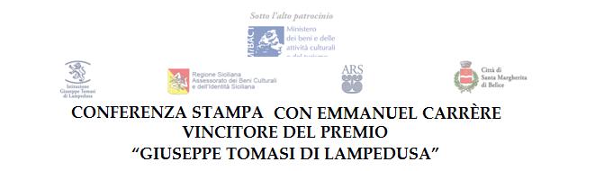 Conferenza stampa con emmanuel carr re sabato 6 agosto a for Scrittore di lampedusa