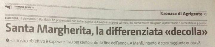 19.09.2016 (792) Giornale di Sicilia pag. 31 di sabato 17.