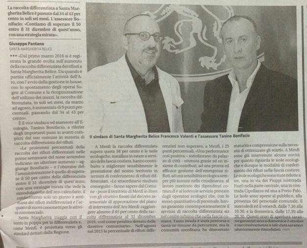 19.09.2016 (792) Giornale di Sicilia pag. 31 di sabato 17. - Copia